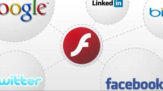 Adobe Flash y su integración con motores de búsqueda y redes sociales