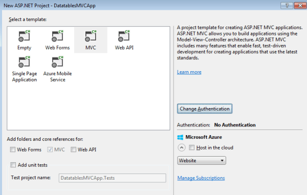 Aspnet Mvc 5 Datatables Plugin Server Side Integration - MVlC