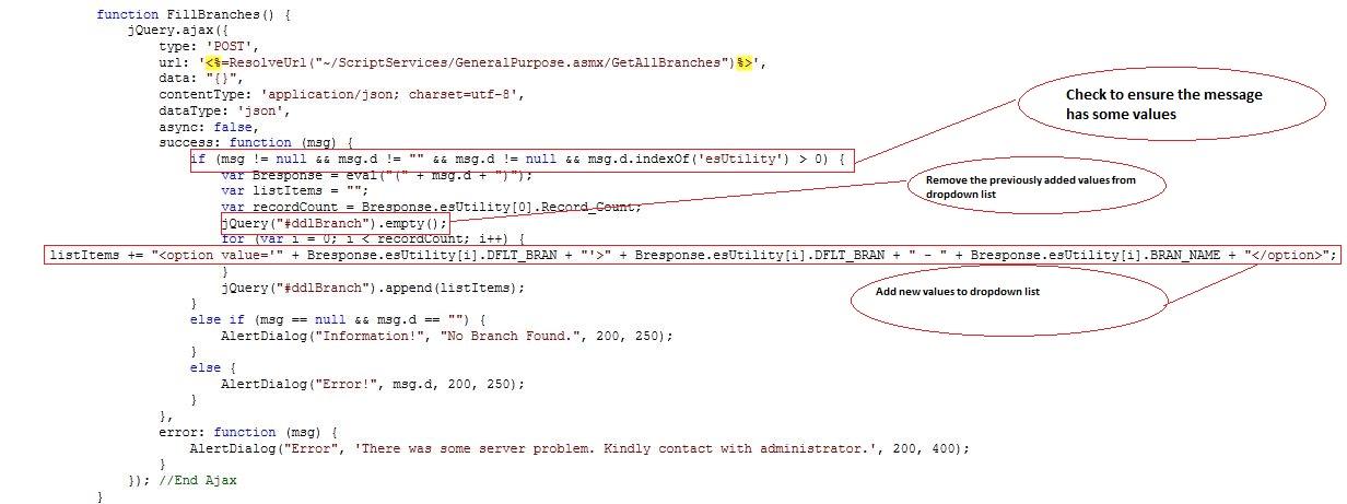 ASP.NET Ajax Application Architecture (jQuery, jSon, .NET