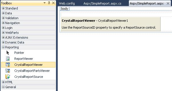 how to build a crystal report in visual studio 2010