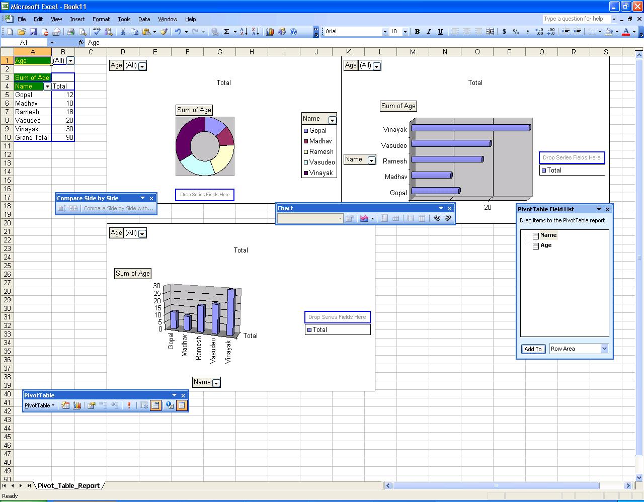 Creating Pivot Tables And Charts Using Activex