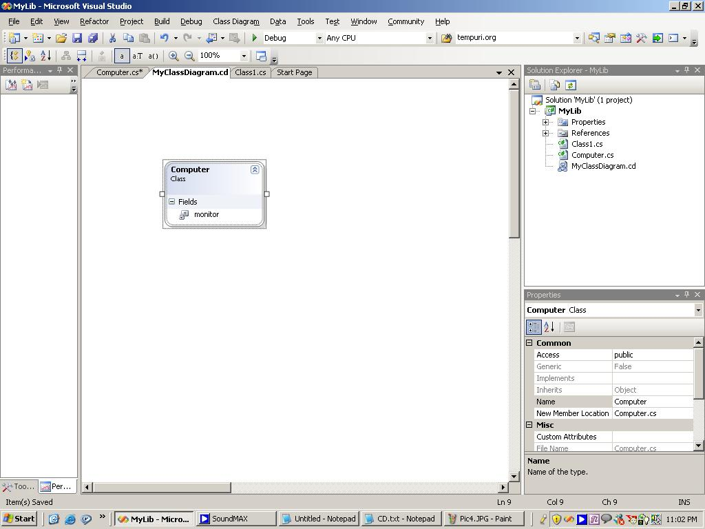 visual studio view class diagram athens and sparta venn in vs net 2005 codeproject sample screenshot
