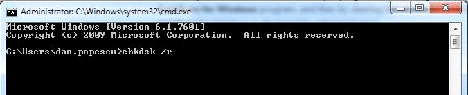 Command Prompt /r