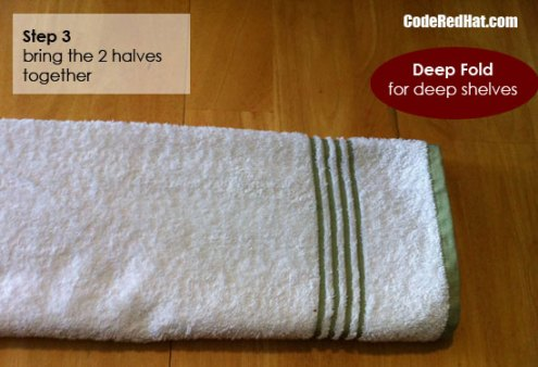 How to folds towels deep step 3