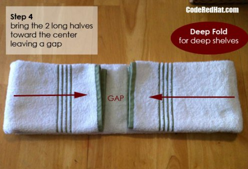 How to fold towels deep step 4