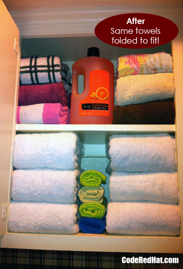how to fold towels deep atfter