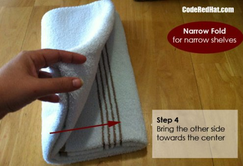 How To Fold Towels Narrow Step 4