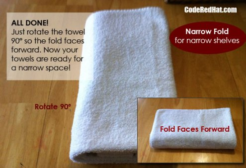 How To Fold Towels Narrow Step 5