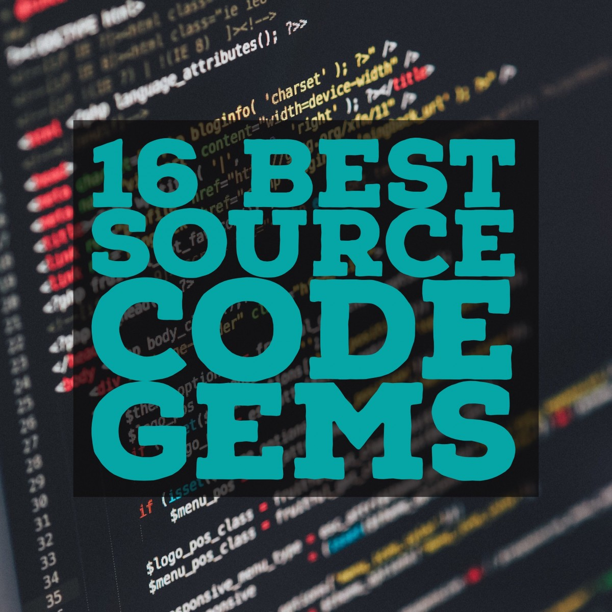 16 Best Source Code Gems [Collection]