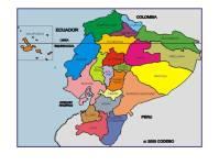 Mapa del ecuador con sus provincias y capitales para ...