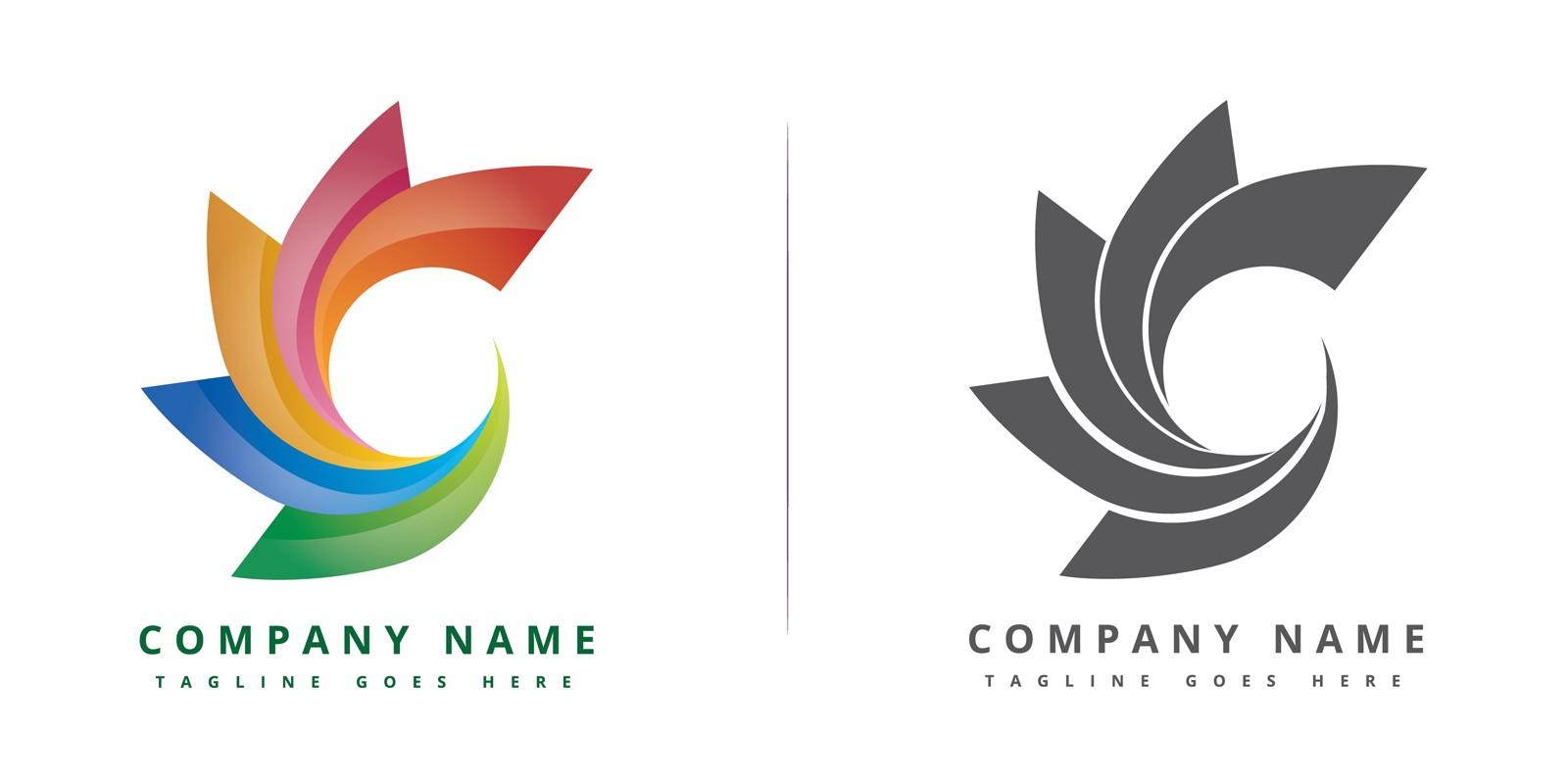 colorful circle company logo