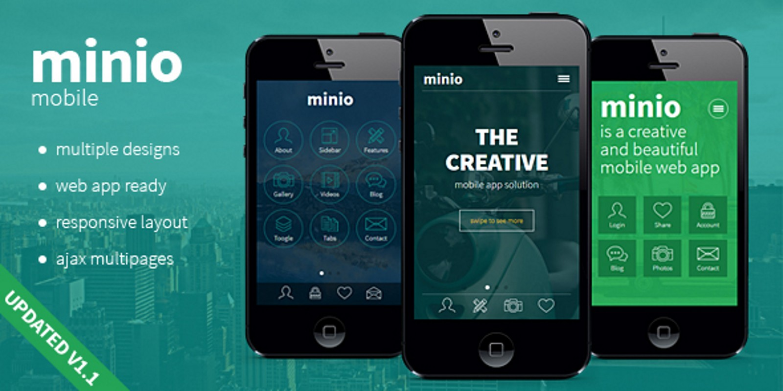 Minio Mobile HTML Template Codester