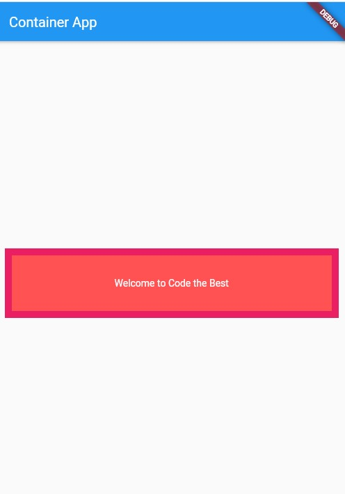 Adding border to the container in flutter