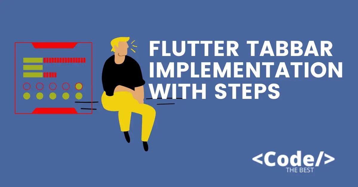 Flutter Tabbar implementation with Steps
