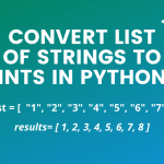 Convert list of Strings to Ints in Python