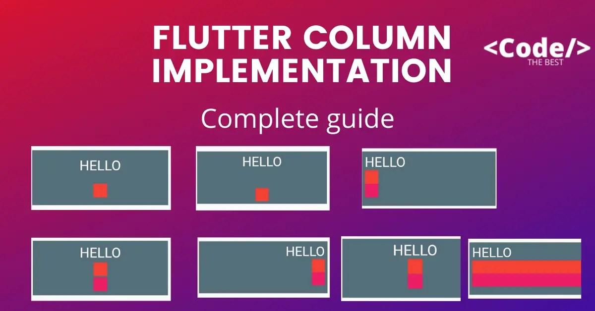 Flutter Column Implementation featured image