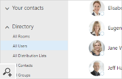 Office 365 users' photos in the Outlook on the Web People app.