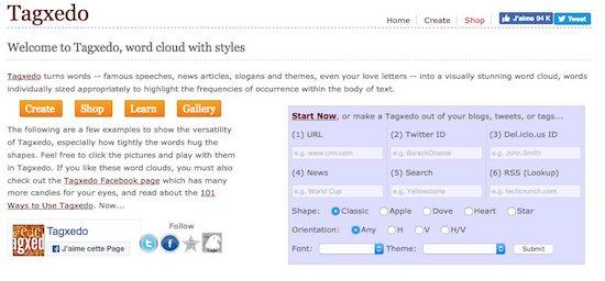 Générateur de nuage de mots en ligne