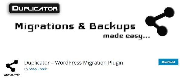 """Résultat de recherche d'images pour """"duplicator wordpress"""""""