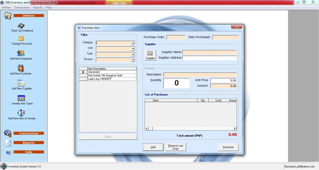 Image Result For Jewelry Inventory Software