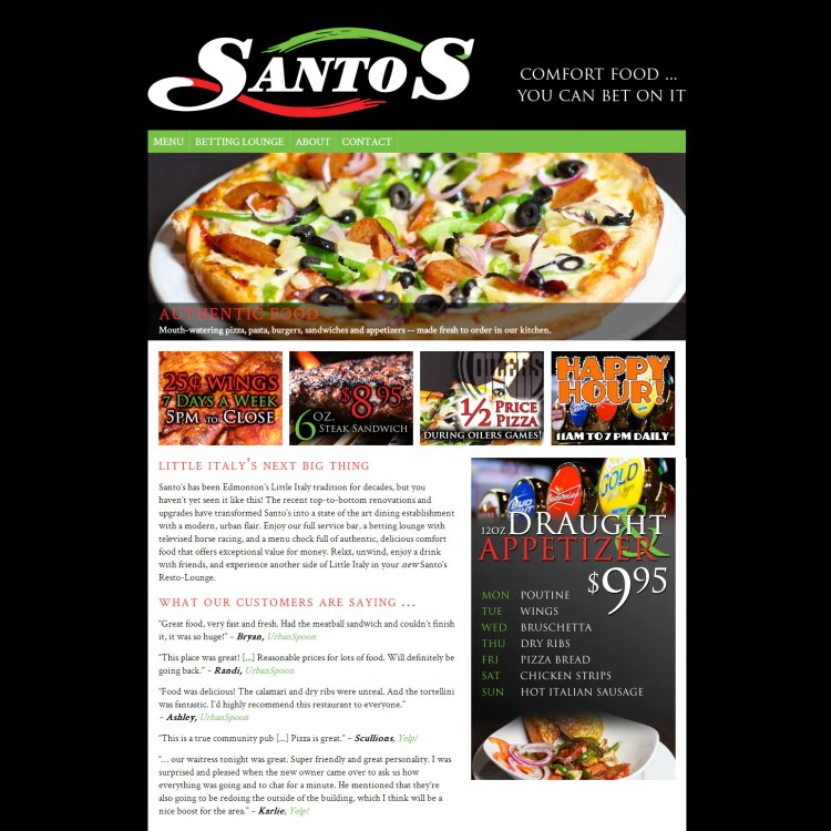 Santo's Resto-Lounge Website