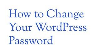 How to Change Your WordPress Password