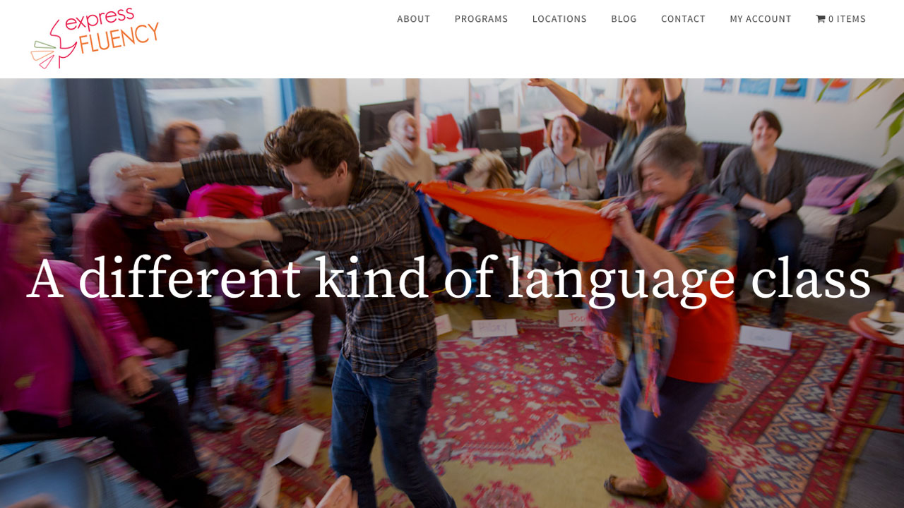 Express Fluency Language Learning Website