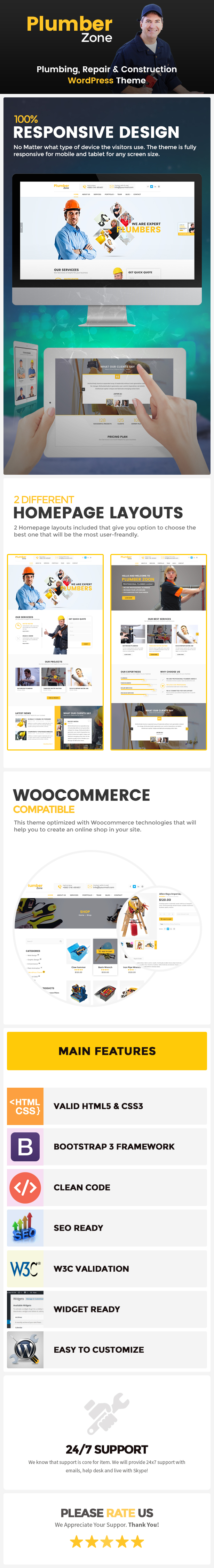 Plumber Zone wordpress theme