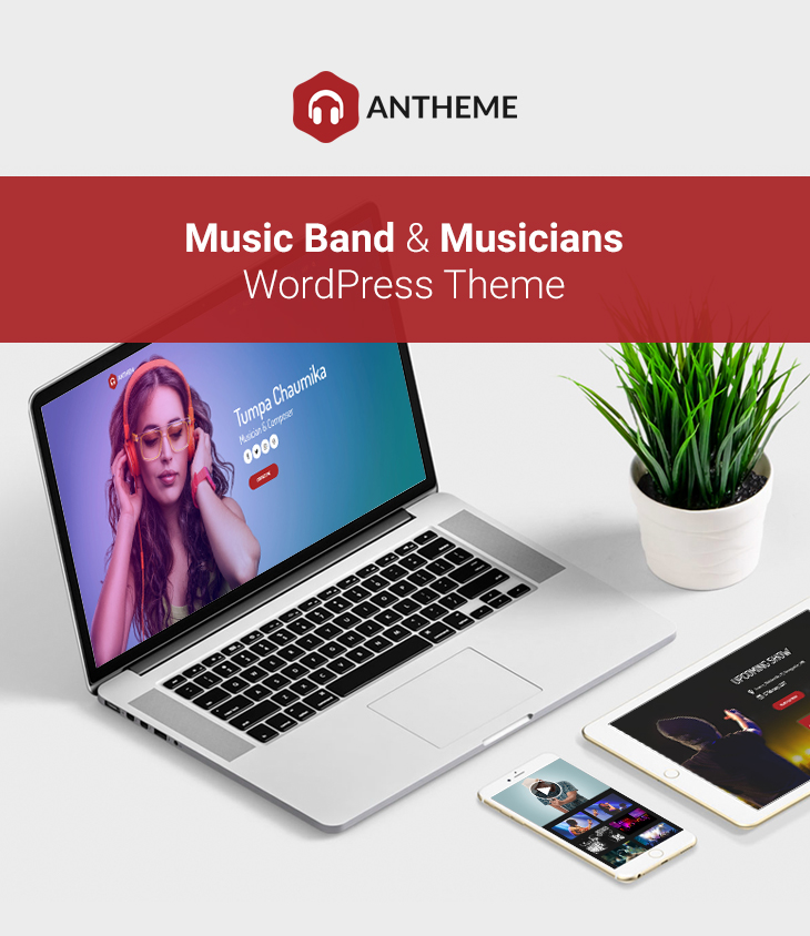 Anthem - Music Band Artist & Musical Event WordPress Theme