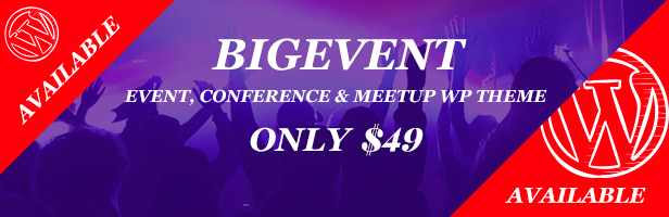 BigEvent- Event & Conference WordPress Theme