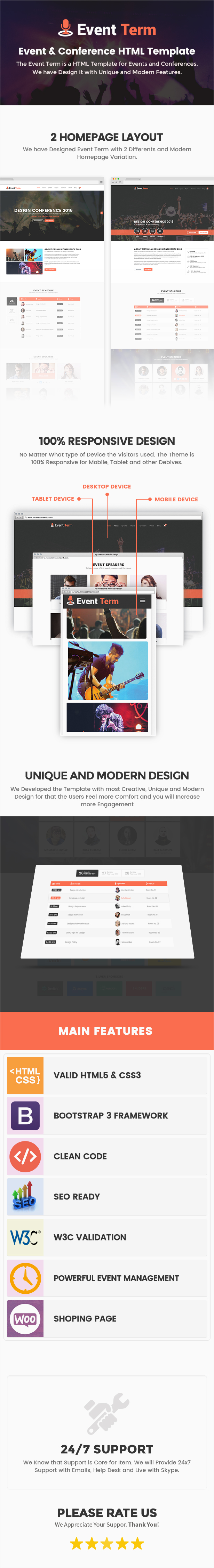 Event Term - Event & Conference HTML Template