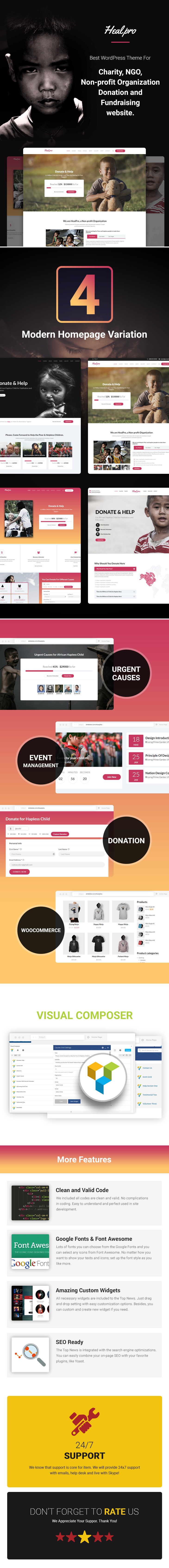 Heal Pro- Multipurpose Charity WordPress Theme