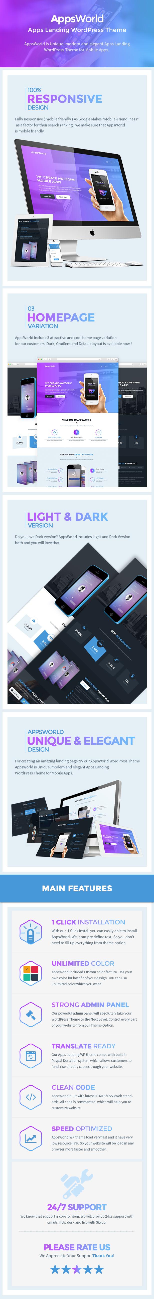 AppsWorld - App Landing Page Theme
