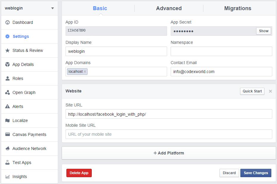 codexworld-facebook-apps-creation