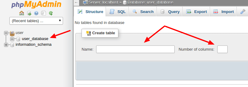 cpanel-create-tables-into-the-database-by-codexworld