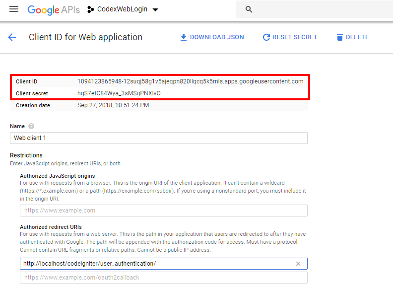 Login with Google Account in CodeIgniter - CodexWorld