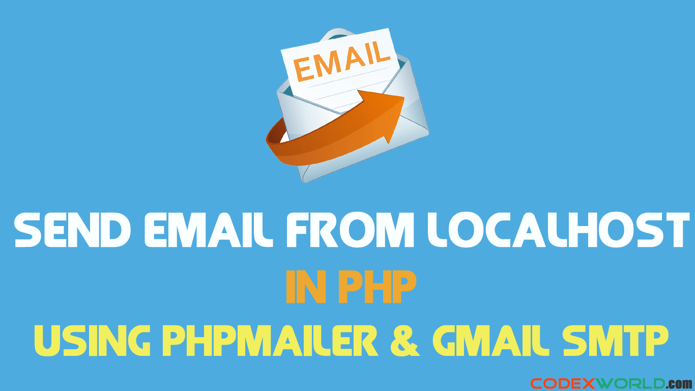 How To Send Email From Localhost In Php Codexworld