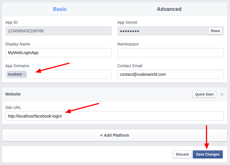facebook-app-creation-tutorial-settings-page-by-codexworld