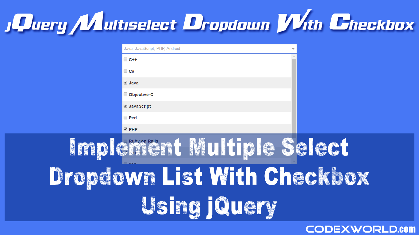 Multi-select Dropdown List with Checkbox using jQuery - CodexWorld