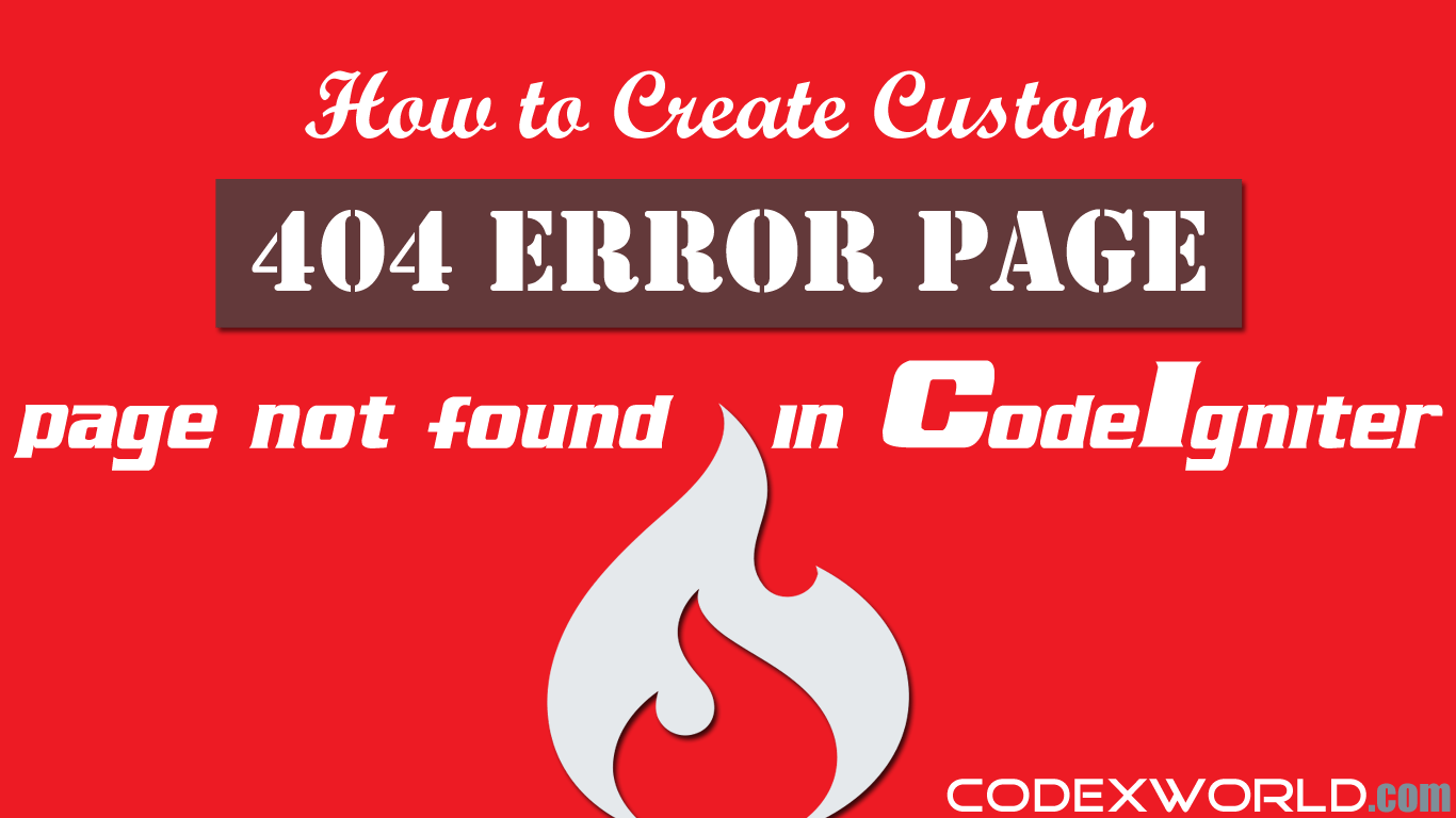 How To Create Custom 404 Error Page In Codeigniter Codexworld Not Found