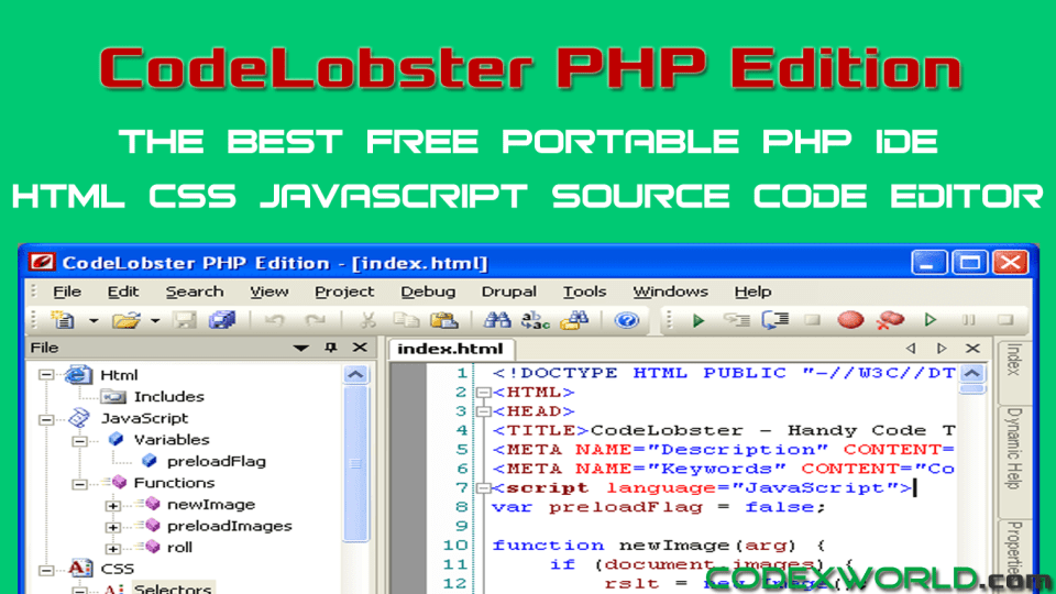 codelobster-php-ide-best-free-php-html-css-javascript-editor-codexworld