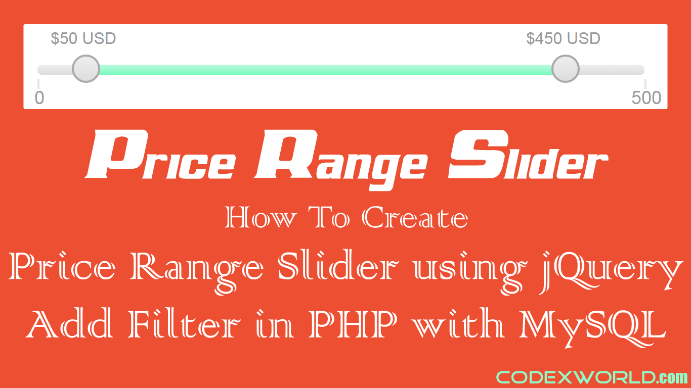 Creating Price Range Slider using jQuery in PHP with MySQL