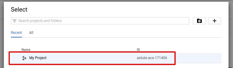 google-api-console-select-project-codexworld