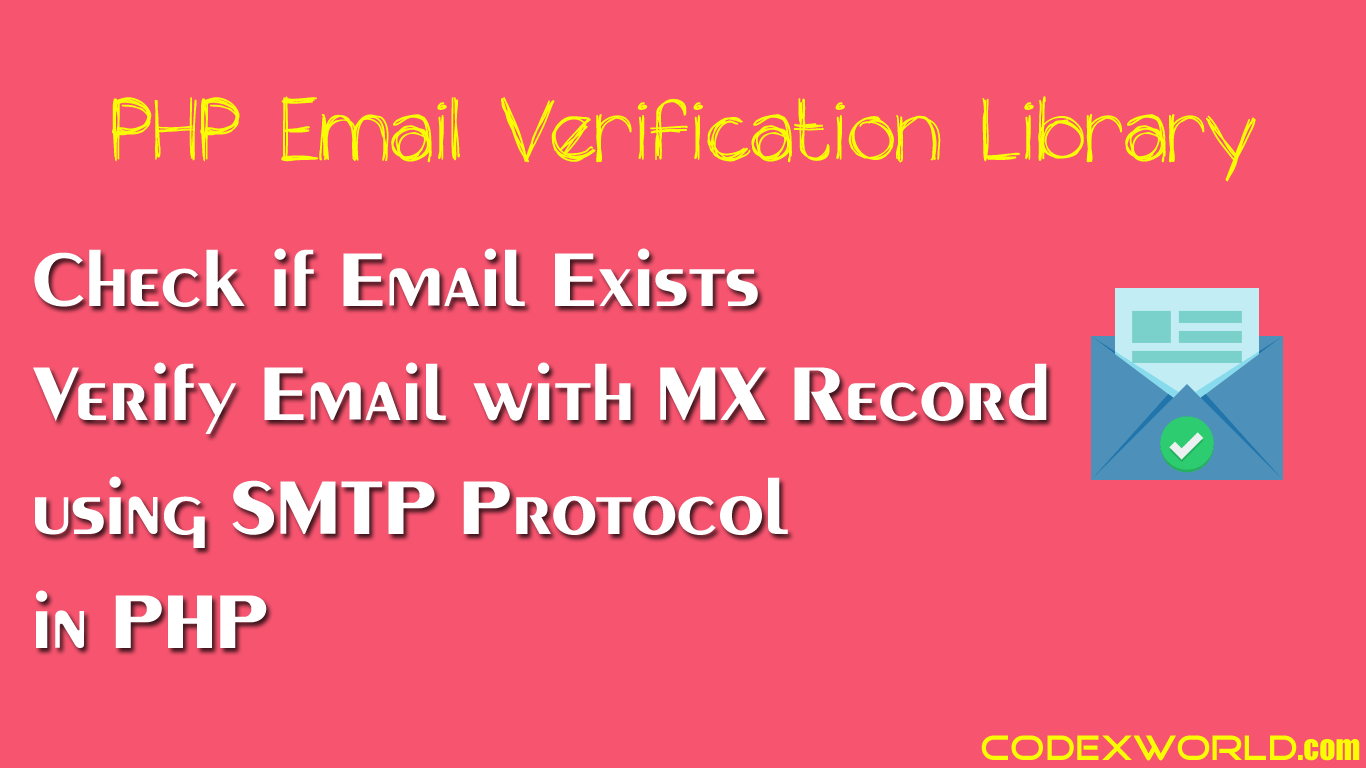 Verify Email Address and Check if Email is Real using PHP