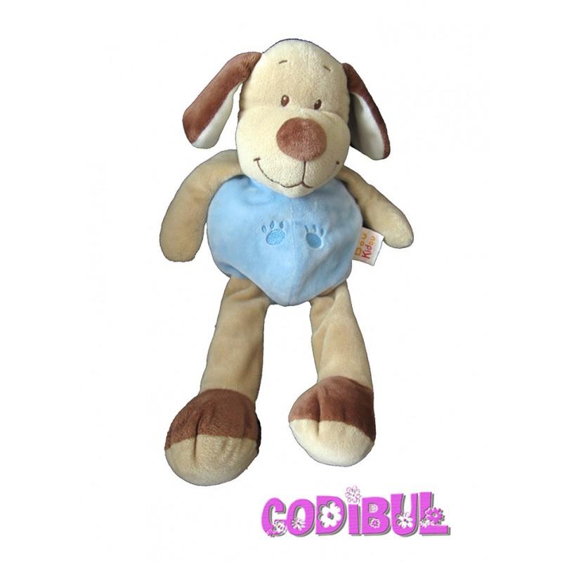 doudou chien bleu marron doukidou