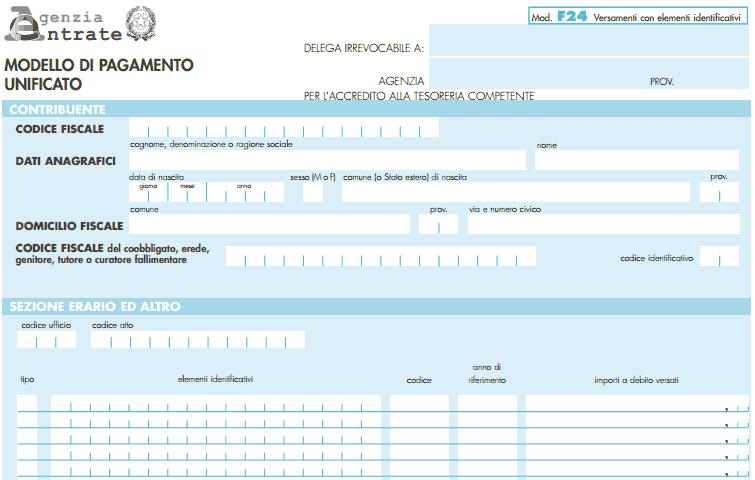 F24 Elide Elementi Identificativi E Contratti Di Locazione