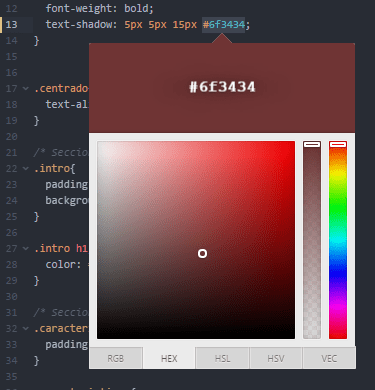 Color picker: Mejor plugin de atom para trabajar con colores