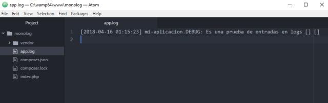 Trabajar con archivos de log en php