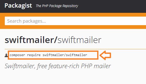 Instrucciones instalar paquetes con composer