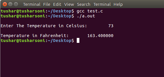 Convert Celsius To Fahrenheit in C Programming Language